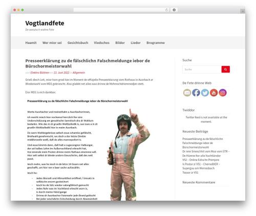 Gatsby free WordPress theme - vogtlandfete.de