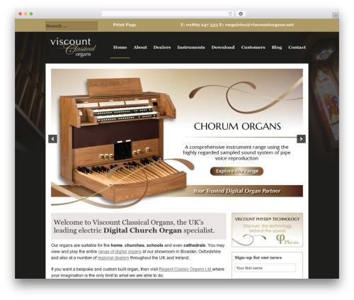 Genesis WordPress website template - viscountorgans.net