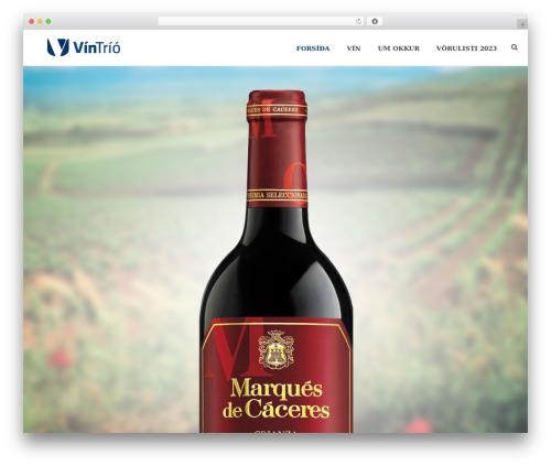 Jupiter WordPress theme - vintrio.is