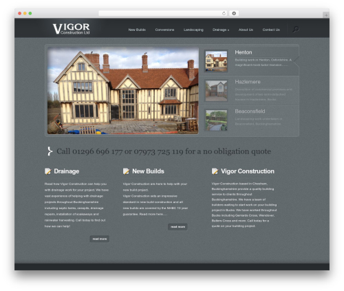 Lumin premium WordPress theme - vigorconstruction.co.uk