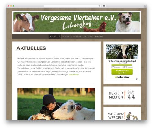 Natural Lite WordPress theme - vergessene-vierbeiner.com