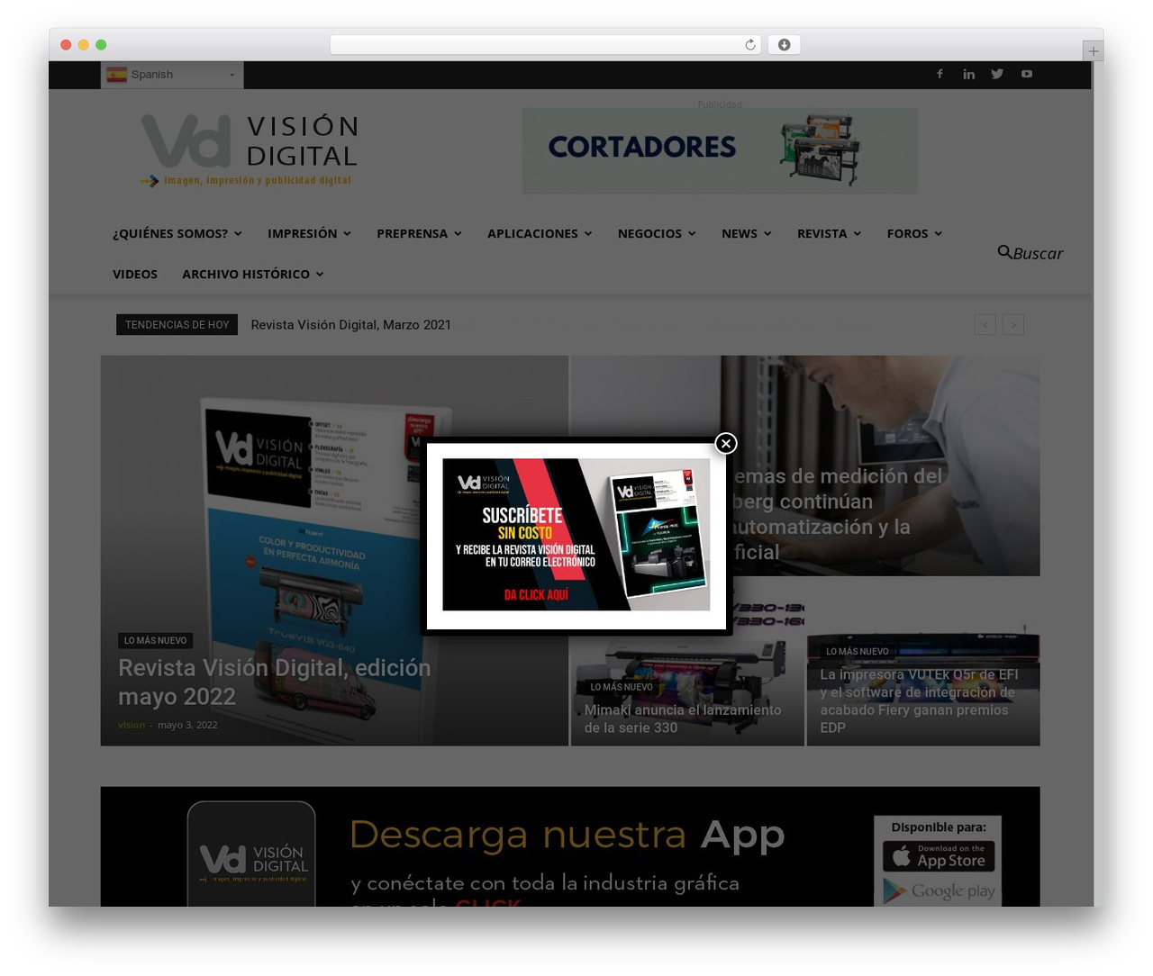 Newspaper best WordPress magazine theme - vision-digital.com.mx