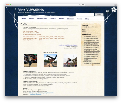 Pretty Parchment WordPress page template - vuvankha.com