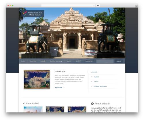 Razor best WordPress template - vishanimajain-ahmedabad.com