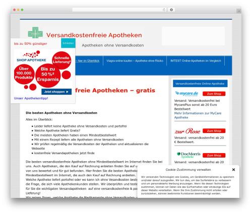 Smartline template WordPress - versandkostenfreie-apotheken.de