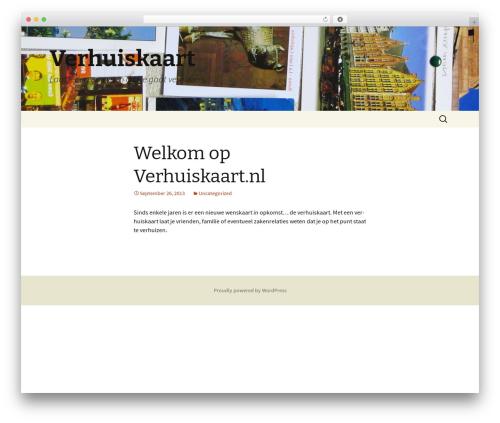 Twenty Thirteen free website theme - verhuiskaart.nl