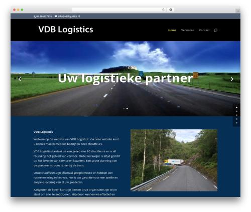 WordPress theme Divi - vdblogistics.nl