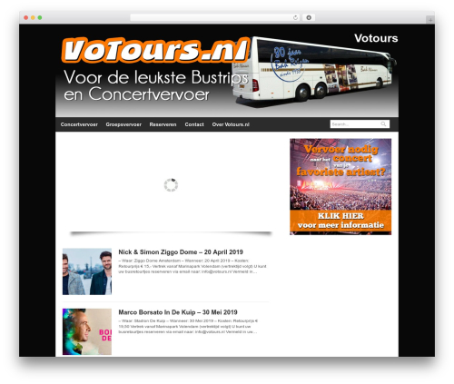 WordPress theme Quik Wordpress Theme - votours.nl
