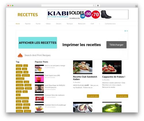 WordPress theme Split - videorecettes.fr