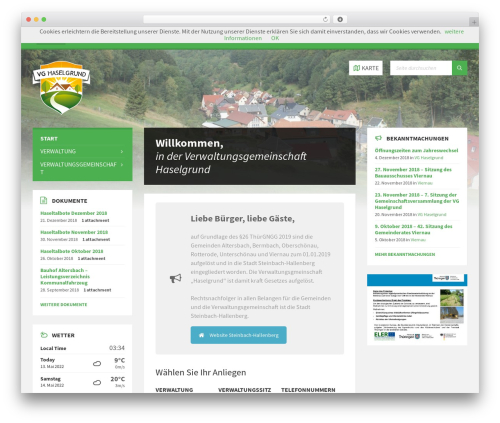 WordPress theme TownPress - vg-haselgrund.de