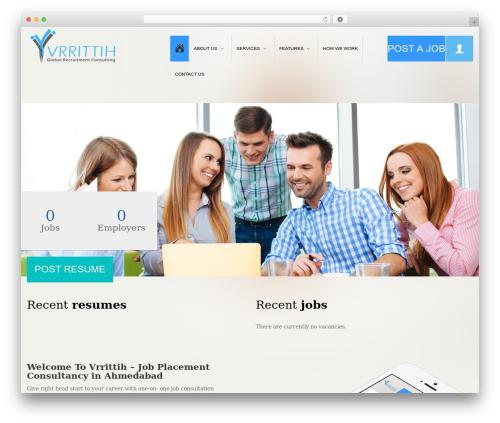 WordPress website template Jobera (Share On Theme123.Net) - vrrittih.com