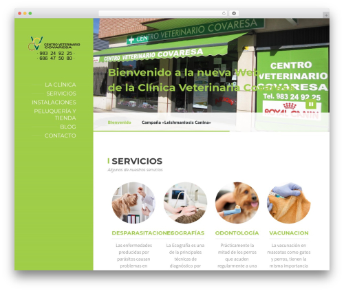 BeautySpot template WordPress - veterinariavalladolid.es