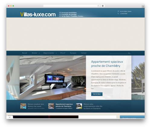 Domestica WordPress theme design - villas-luxe.com
