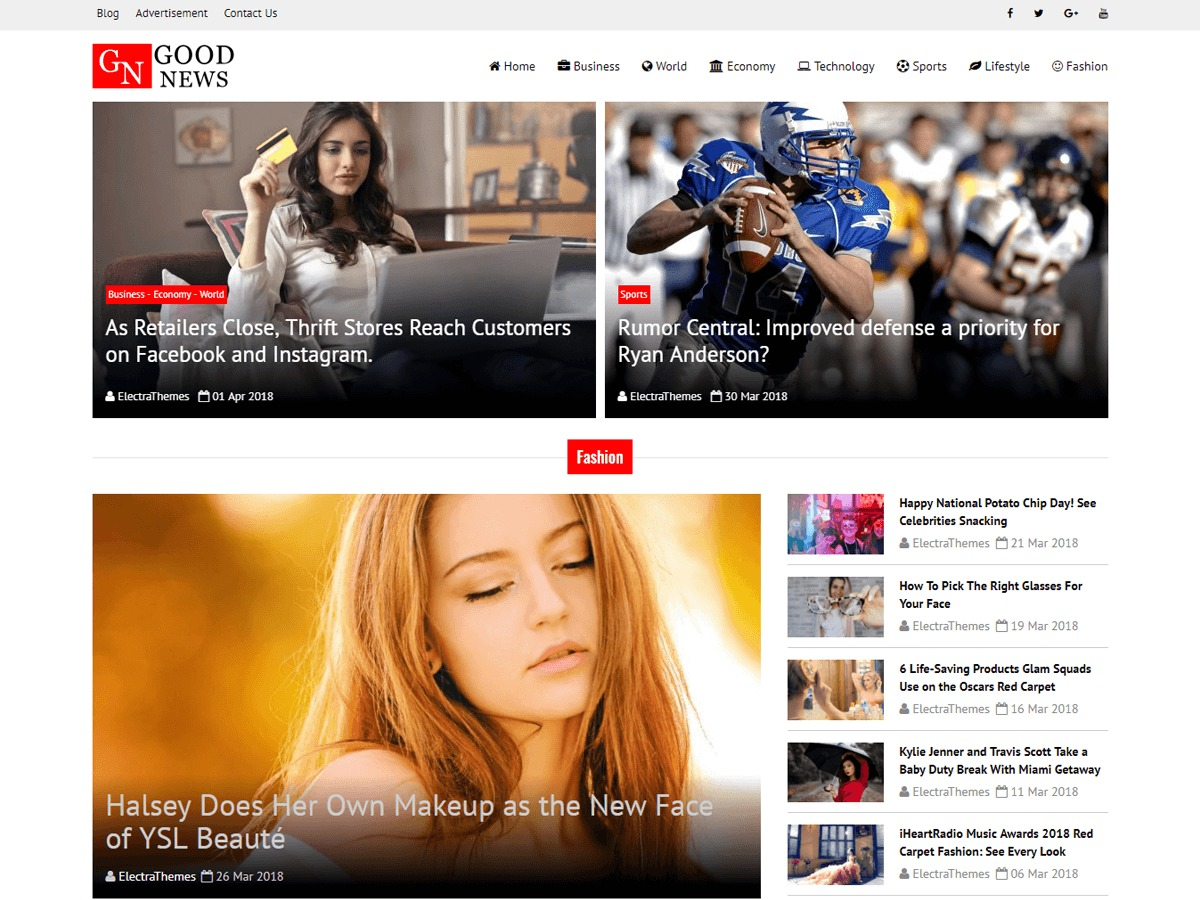 Good News Lite newspaper WordPress theme