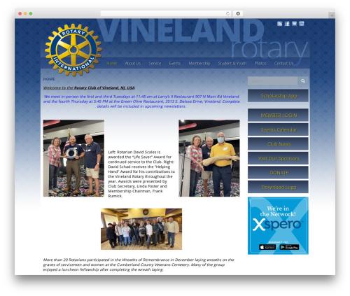 VLM WP theme - vinelandrotary.com