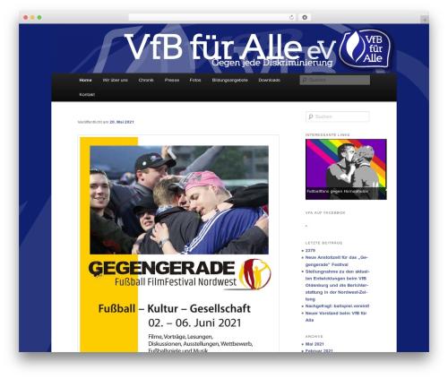WordPress template Twenty Eleven - vfbfueralle.de