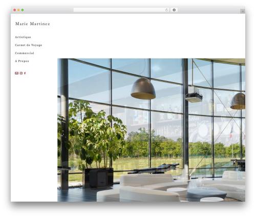 WordPress theme Jupiter - martinezmarie.com