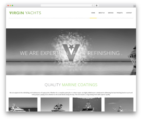WordPress theme Novalumen - virgin-yachts.com