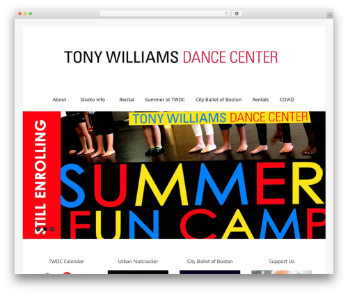 Asteria PRO WordPress theme - tonywilliamsdancecenter.com