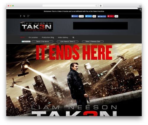 Avada newspaper WordPress theme - taken3movie.com