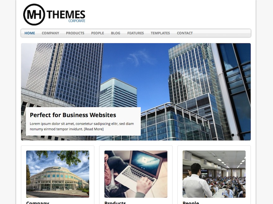 Best WordPress theme MH Corporate basic Child