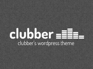 Clubber WordPress theme design