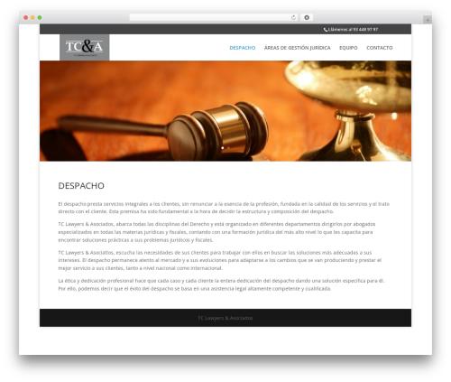 Divi WordPress theme - tclawyers.es