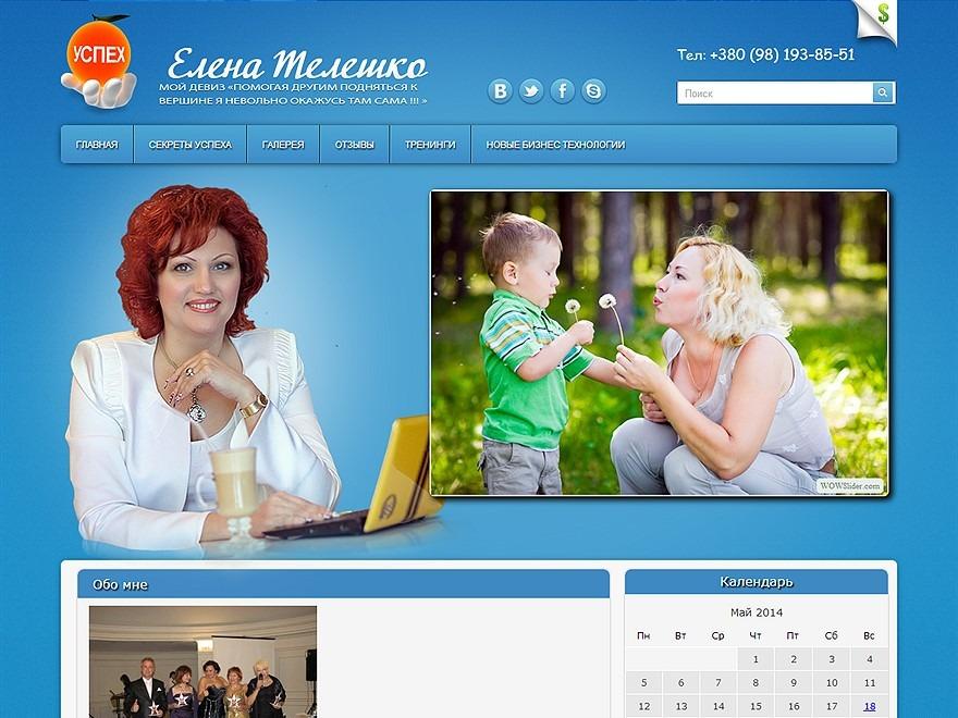 ElenaTeleshko WordPress theme