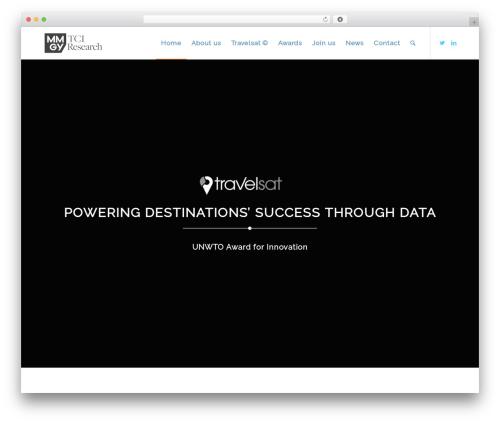 Enfold WordPress website template - tci-research.com