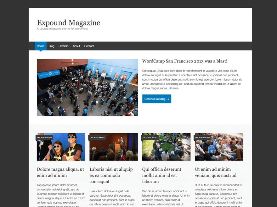 Expound steph WordPress news theme