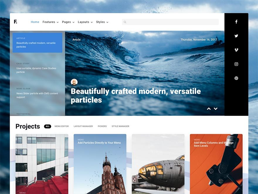 Fluent best WordPress template
