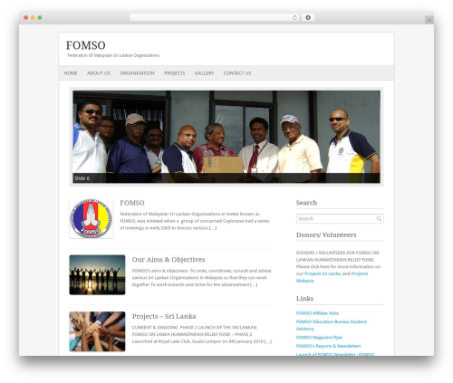 Fresh And Clean WordPress template - fomso.org