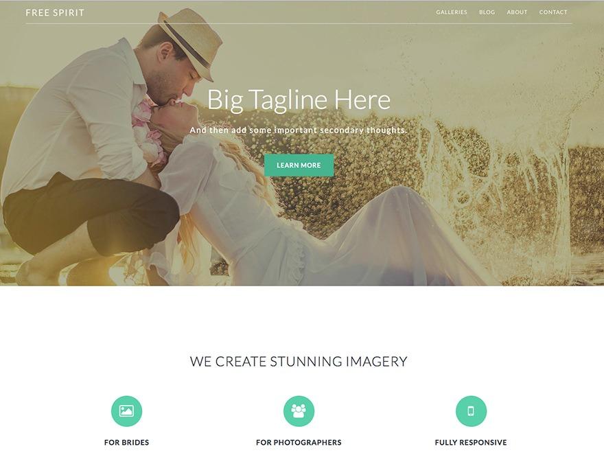 Imagely Free Spirit wallpapers WordPress theme