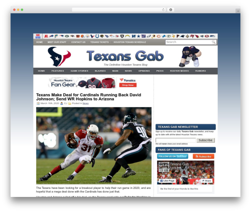 iMobile WP template - texansgab.com