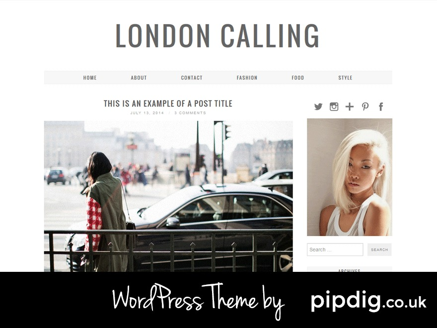 London Calling (pipdig) WordPress shopping theme