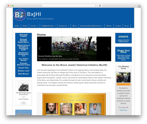Magazine Basic WordPress news template - thebronxjewish.org