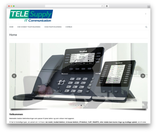 Marine Wordpress Theme 01052015 WordPress theme - telesupply.dk