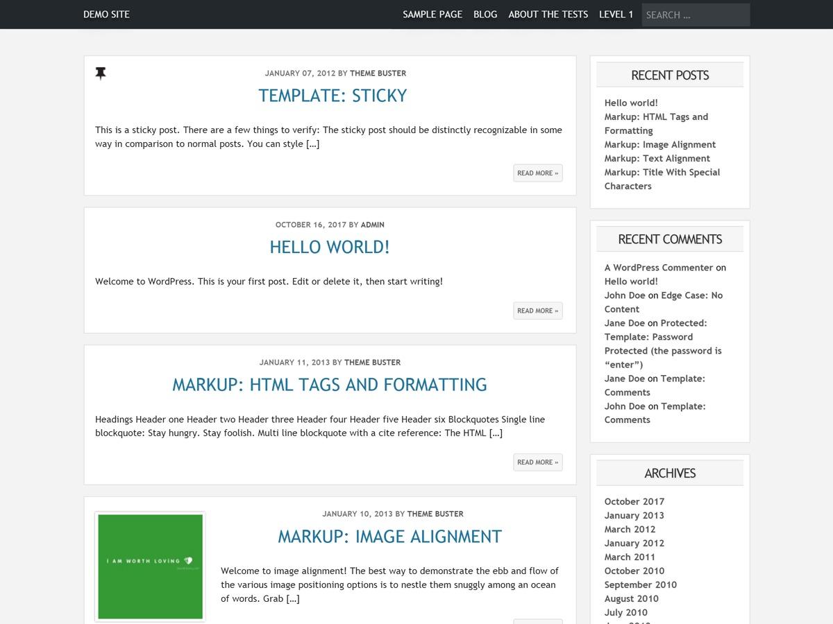 Minilog WordPress photo theme