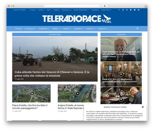 Newspaper best WordPress magazine theme - teleradiopace.tv