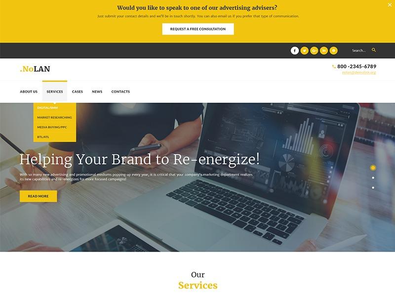 nolan WordPress theme