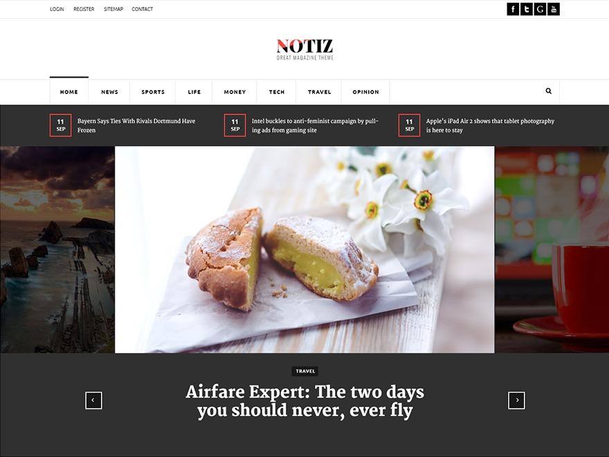 Notiz WordPress theme