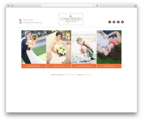ProPhoto WordPress page template - theconcierges.net