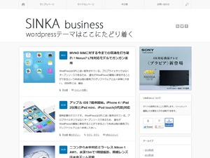 SINKA business WordPress template for business