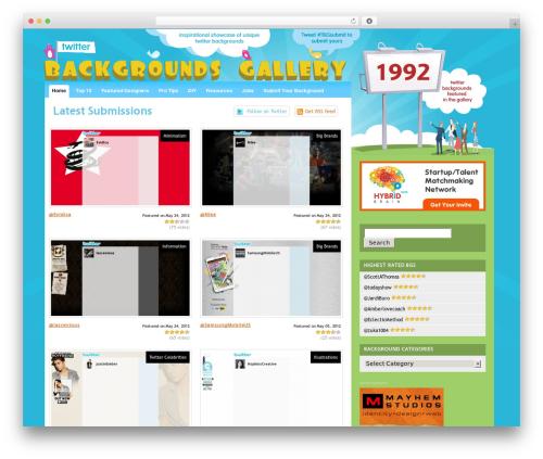 Snapshot wallpapers WordPress theme - twitterbackgroundsgallery.com