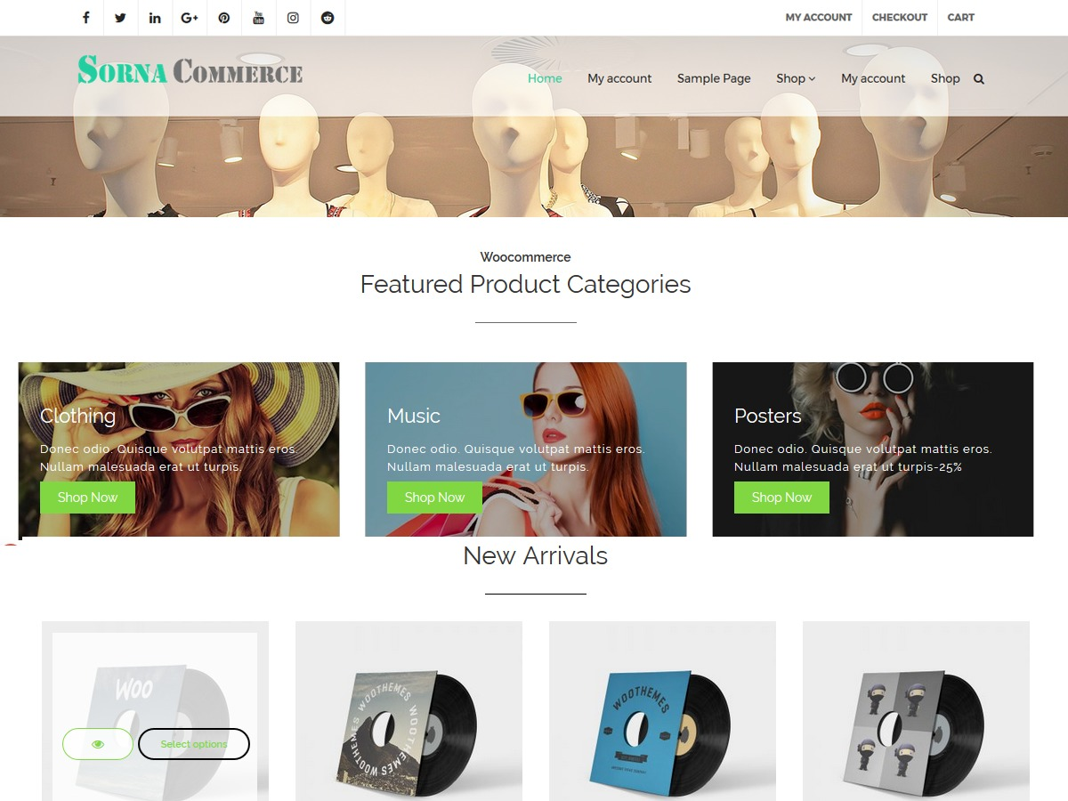 SornaCommerce free WordPress theme