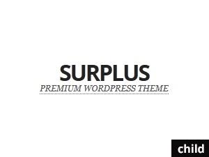 Surplus Child Theme WordPress theme