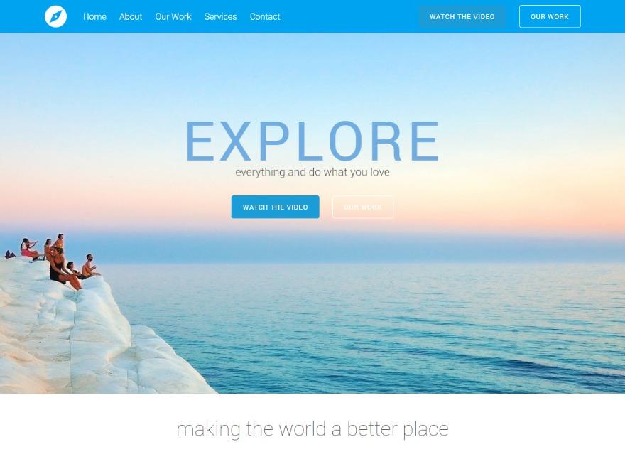 Tesseract Child top WordPress theme