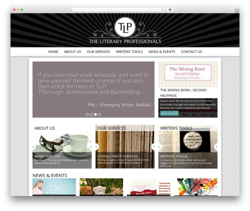 Theme WordPress tlc - theliteraryprofessionals.ie