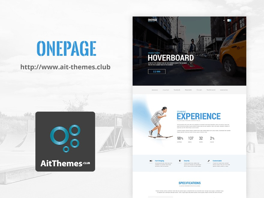 TheOnePage WordPress template