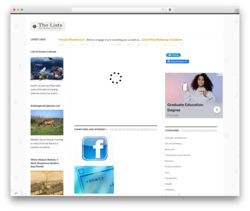 UrbanNews WordPress theme - thelists.org